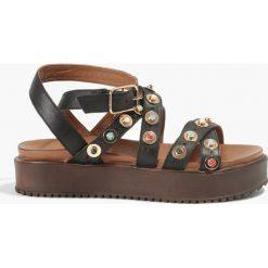 Rzymianki damskie: Sandały czarne