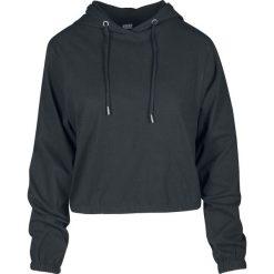 Urban Classics Ladies Heavy Jersey Batwing Hoody Bluza z kapturem damska czarny. Czerwone bluzy z kapturem damskie marki KALENJI, z elastanu, z krótkim rękawem, krótkie. Za 79,90 zł.