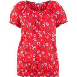 Bluzka, krótki rękaw bonprix truskawkowy. Czerwone bralety bonprix, z krótkim rękawem. Za 37,99 zł.