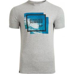 T-shirt męski TSM608 - średni szary melanż - Outhorn. Szare t-shirty męskie Outhorn, na lato, m, melanż, z bawełny. W wyprzedaży za 29,99 zł.