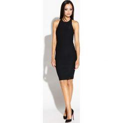 Czarna Mini Sukienka Odsłaniająca Ramiona i Plecy. Czarne sukienki balowe marki Molly.pl, na co dzień, l, mini, dopasowane. Za 149,90 zł.