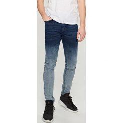 Rurki męskie: Cieniowane jeansy skinny - Granatowy