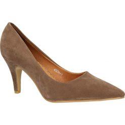 CZÓŁENKA CASU B3238-1. Brązowe buty ślubne damskie Casu, na koturnie. Za 54,99 zł.