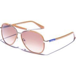 Okulary przeciwsłoneczne męskie aviatory: Okulary męskie w kolorze złoto-brązowym