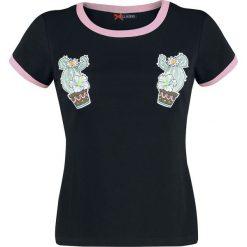 Hell Bunny Cactus Tee Koszulka damska czarny. Czarne t-shirty damskie Hell Bunny, xl, z aplikacjami, z okrągłym kołnierzem. Za 62,90 zł.