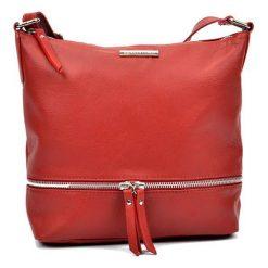 Torebki klasyczne damskie: Skórzana torebka w kolorze czerwonym – (S)24 x (W)32 x (G)11,5 cm