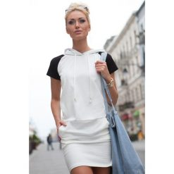 Sukienki: Sukienka Kremowa 7833