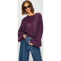 Answear - Sweter. Szare swetry klasyczne damskie marki ANSWEAR, l, z dzianiny, z okrągłym kołnierzem. W wyprzedaży za 79,90 zł.