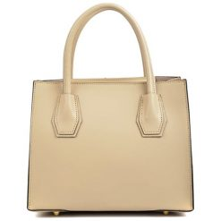 Torebki klasyczne damskie: Skórzana torebka w kolorze beżowym – (S)26 x (W)21,5 x (G)12,5 cm