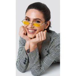 Okulary przeciwsłoneczne damskie: NA-KD Trend Owalne okulary przeciwsłoneczne retro – Yellow