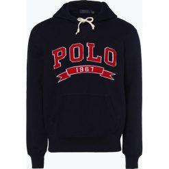 Polo Ralph Lauren - Męska bluza nierozpinana, niebieski. Niebieskie bejsbolówki męskie Polo Ralph Lauren, l, z polaru. Za 699,95 zł.