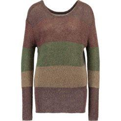 Swetry klasyczne damskie: See u Soon COLOUR BLOCK  Sweter brown