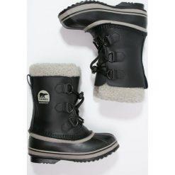 Sorel YOOT PAC Śniegowce black. Czarne buty zimowe chłopięce Sorel, z materiału. Za 379,00 zł.