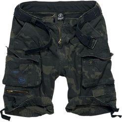 Brandit Savage Vintage Shorts Krótkie spodenki Vintage kamuflaż (Dark Camo). Zielone spodenki i szorty męskie Brandit, z nadrukiem, z bawełny. Za 164,90 zł.