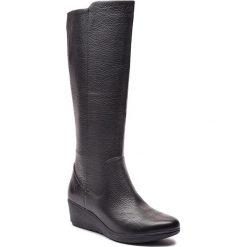 Kozaki CLARKS - Un Tallara Esa 261355444  Black. Czarne buty zimowe damskie Clarks, z materiału, przed kolano, na wysokim obcasie, na obcasie. Za 759,00 zł.