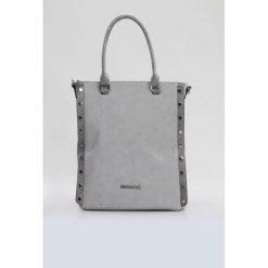 Torba z ozdobnymi nitami. Szare torebki klasyczne damskie Monnari, ze skóry, zdobione. Za 103,60 zł.