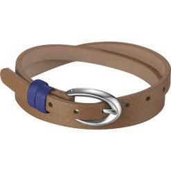 """Bransoletki damskie: Skórzana bransoletka """"Rio"""" w kolorze brązowo-niebieskim"""