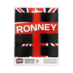 Ronney Profesjonalne wsuwki do włosów na karcie długie, czarne proste 100 szt. Czarne ozdoby do włosów marki Ronney. Za 5,54 zł.