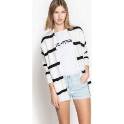 Swetry oversize damskie: Sweter-narzutka