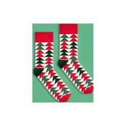 BananaSocks - skarpetki Świąteczna Choinka. Czerwone skarpetki damskie marki Banana socks. Za 27,99 zł.