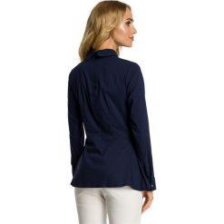 ELISE Bluzka odcinana w talii - granatowa. Niebieskie bluzki wizytowe Moe, eleganckie. Za 119,00 zł.