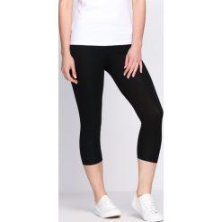 Spodnie damskie: Czarne Legginsy Footprints