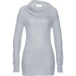 Sweter bonprix jasnoszary melanż. Szare swetry klasyczne damskie bonprix, melanż. Za 89,99 zł.