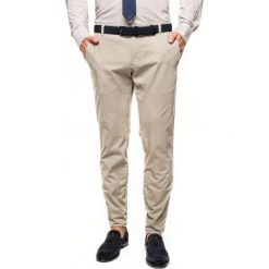Spodnie bever 215 beż slim fit. Szare rurki męskie Recman. Za 239,00 zł.