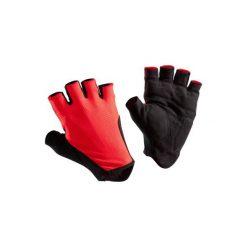 Rękawiczki ROADR 500. Czerwone rękawiczki damskie B'TWIN, z materiału. W wyprzedaży za 19,99 zł.