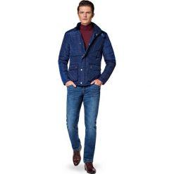Kurtka Granatowa Bergen. Niebieskie kurtki męskie marki LANCERTO, na jesień, m, z bawełny, casualowe. W wyprzedaży za 499,90 zł.