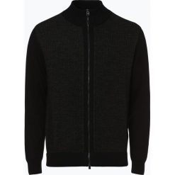 Swetry rozpinane męskie: BOSS - Kardigan męski – Elfonte, czarny