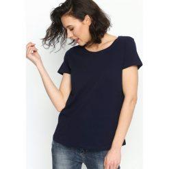 T-shirty damskie: Granatowy T-shirt Essential