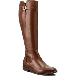 Oficerki WOJAS - 7722-53 Brąz. Czarne buty zimowe damskie marki Wojas, z materiału, z okrągłym noskiem. W wyprzedaży za 349,00 zł.