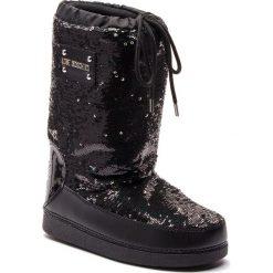 Śniegowce LOVE MOSCHINO - JA24082G06JL000A Nero/Arge. Czarne buty zimowe damskie marki Love Moschino, z materiału, na niskim obcasie. Za 779,00 zł.