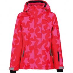 """Kurtka narciarska """"Madison"""" w kolorze różowym. Czerwone kurtki dziewczęce przeciwdeszczowe marki Reserved, z kapturem. W wyprzedaży za 227,95 zł."""