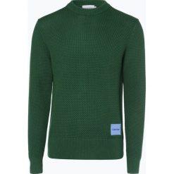 Calvin Klein - Sweter męski, zielony. Pomarańczowe swetry klasyczne męskie marki Calvin Klein, l, z bawełny, z okrągłym kołnierzem. Za 599,95 zł.