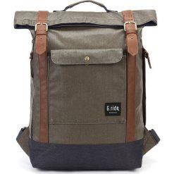Plecaki męskie: Plecak w kolorze oliwkowo-granatowym – 27 x 45 x 11,5 cm
