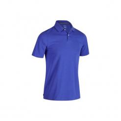 Koszulka polo do golfa 500 męska. Niebieskie koszulki polo marki INESIS, m, z bawełny. W wyprzedaży za 29,99 zł.