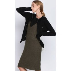 Czarny Kardigan It's Your Choice. Szare swetry klasyczne damskie marki Reserved, m, z kapturem. Za 89,99 zł.