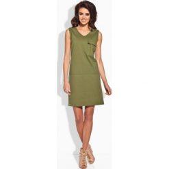 Sukienki: Klasyczna sukienka w typie safari khaki