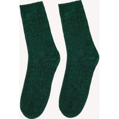Skarpetki damskie: NA-KD Accessories Lśniące skarpetki – Green