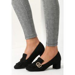Buty ślubne damskie: Czarne Czółenka Paisley