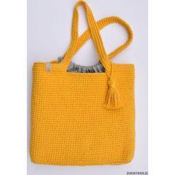 Szydełkowa słoneczna torba. Brązowe torebki klasyczne damskie marki bonprix. Za 199,00 zł.