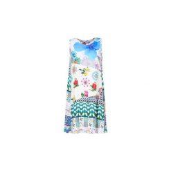 Sukienki krótkie Desigual  OUSOUA. Szare sukienki mini marki Desigual, l, z krótkim rękawem. Za 231,75 zł.