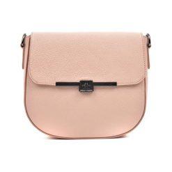Torebki klasyczne damskie: Skórzana torebka w kolorze pudrowym – (S)21 x (W)23 x (G)9 cm