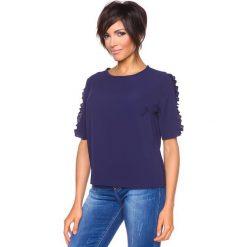 """T-shirty damskie: Koszulka """"Aline"""" w kolorze granatowym"""