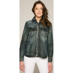 Answear - Koszula. Szare koszule jeansowe damskie marki ANSWEAR, l, casualowe, z długim rękawem. W wyprzedaży za 69,90 zł.