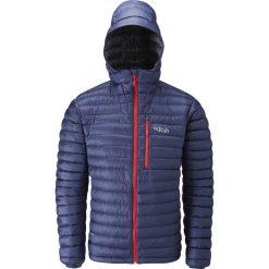 Kurtki sportowe męskie: RAB Męska Kurtka Puchowa Microlight Alpine Jacket Granatowa r. L