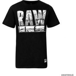 T - shirt RAW life. Czarne t-shirty męskie Pakamera, m, z bawełny. Za 89,00 zł.