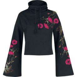 Outer Vision Gallow Poppy Bluza z kapturem czarny. Czarne bluzy z kapturem damskie Outer Vision, xl, z nadrukiem. Za 164,90 zł.